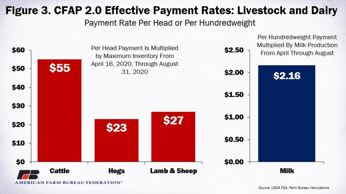 Figure 3. CFAP2 Effective Payment Rates for Livestock and Dairy