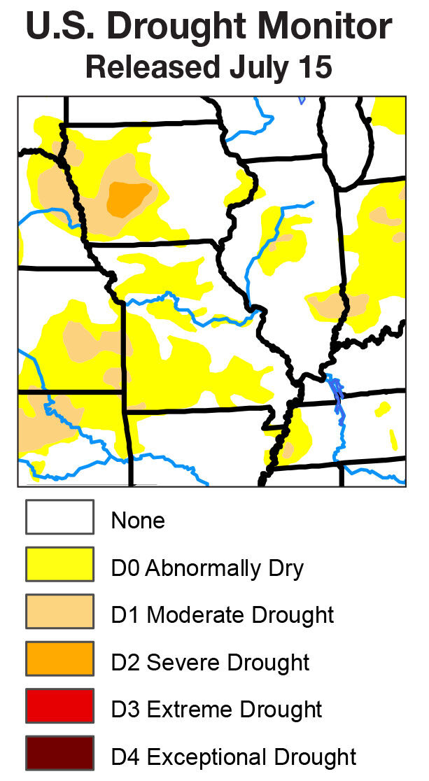 Drought monitor map july 2020