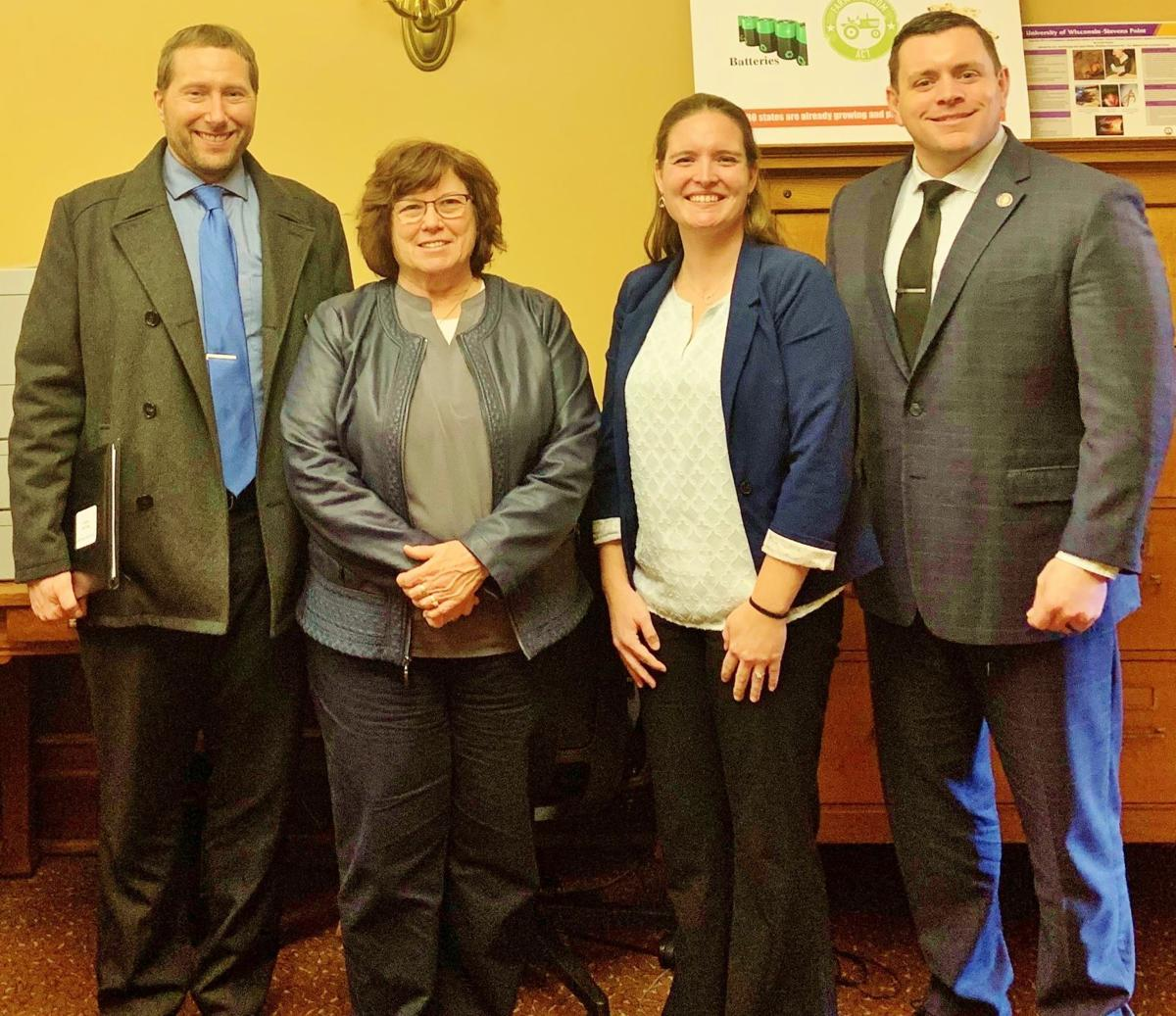 Leaders from Waushara County Farm Bureau and Wisconsin Sen. Patrick Testin