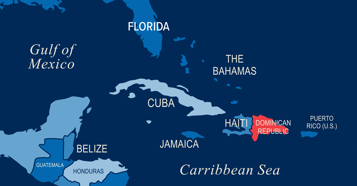 World Map Dominican