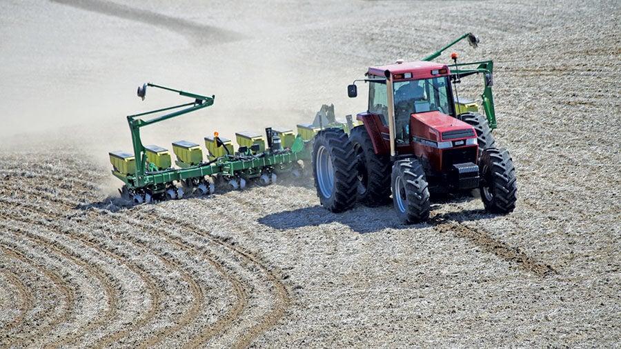 Larry Barry plants Harrison County, Iowa