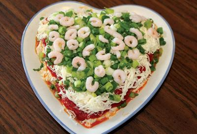 Layered Shrimp Party Plate