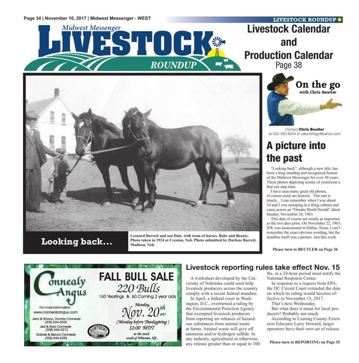Livestock Roundup 11/10/17 | Midwest Messenger | agupdate com