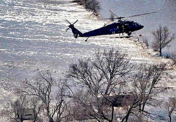 National Guard chopper Arlington flood