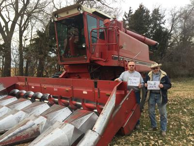 Old combine completes another harvest