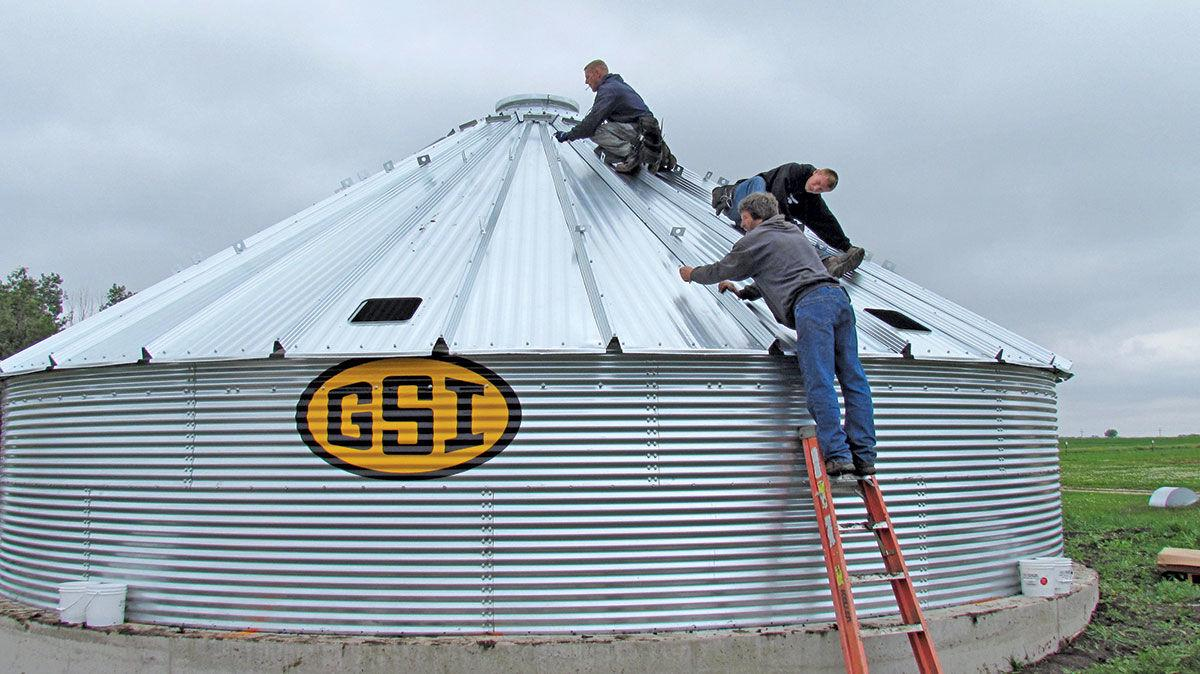 Grain bin construction