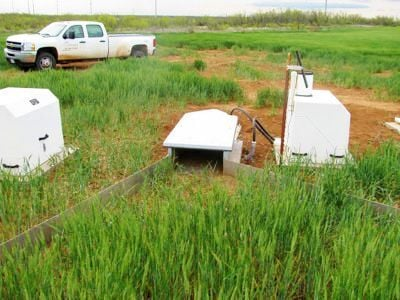 Water catchment and monitor