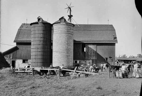 Historic silos and family
