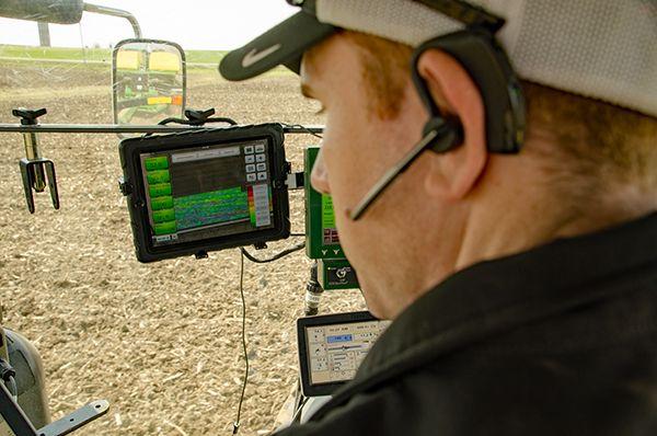The farm matrix man with tablet