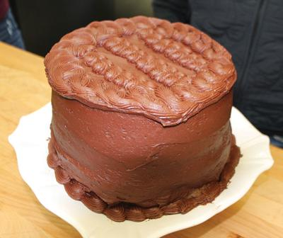 "Hughes' chocolate ""moose"" cake"