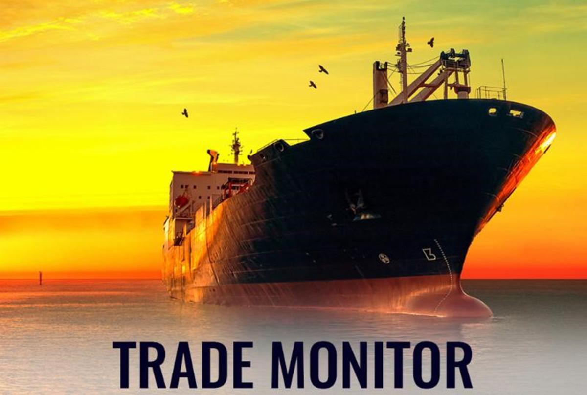 Trade Monitor with container ship