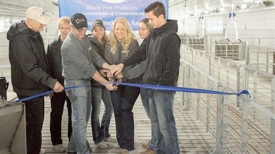 Meurer Family Pig Barn Ribbon Cutting
