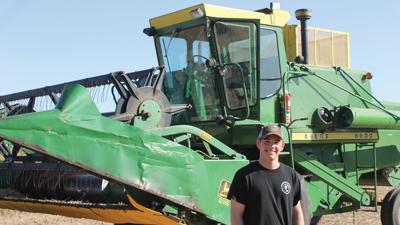 Josh Granger owns his first combine