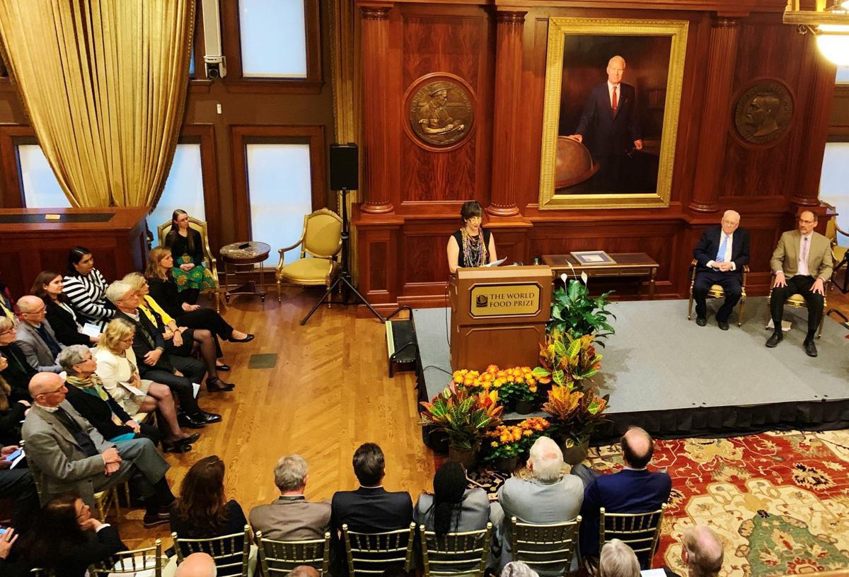 Hale Ann Tufan at World Food Prize ceremony