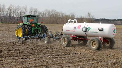 Tillage with anhydrous tank