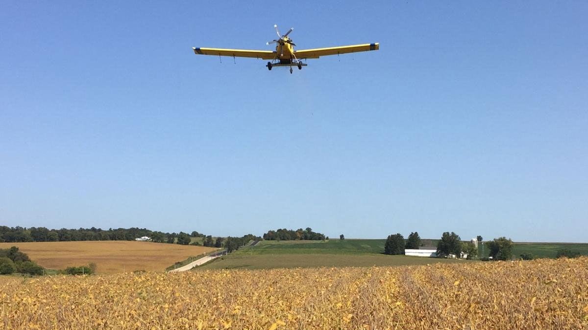 Aerial seeding helps cover crops