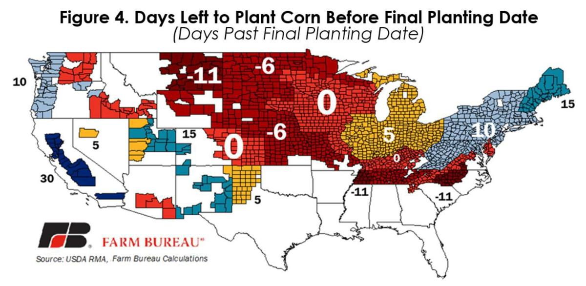 Days left to plant corn