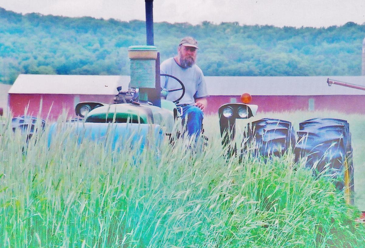 Wade Bulman on tractor