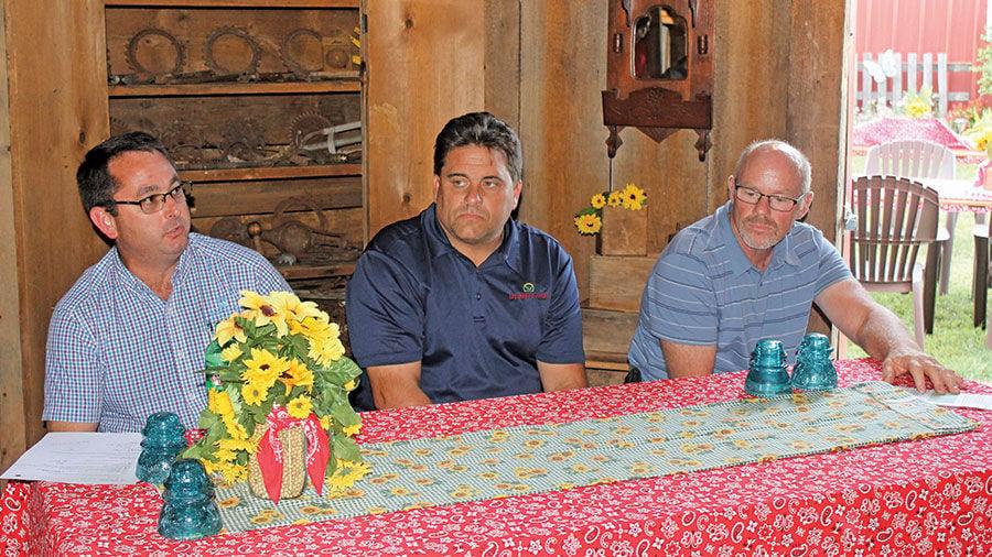 Livingston County farmers Matt Ifft, Tim McGreal and John Traub