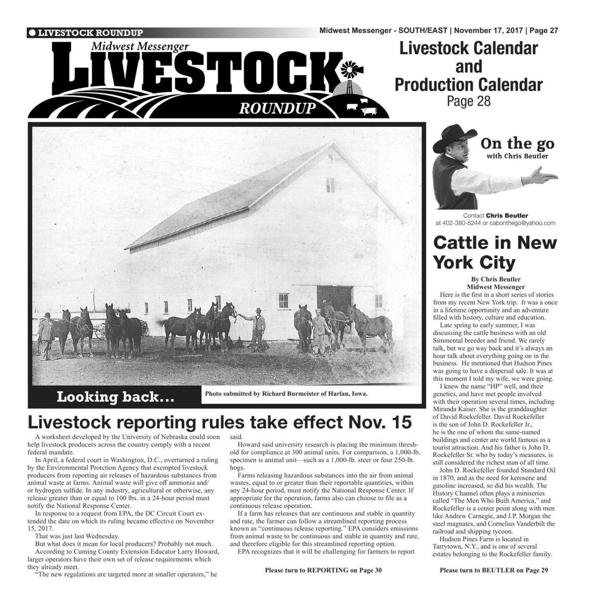 Livestock Roundup 11/17/17 | Midwest Messenger | agupdate com