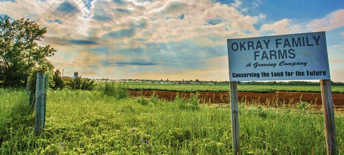 Okray Family Farms sign