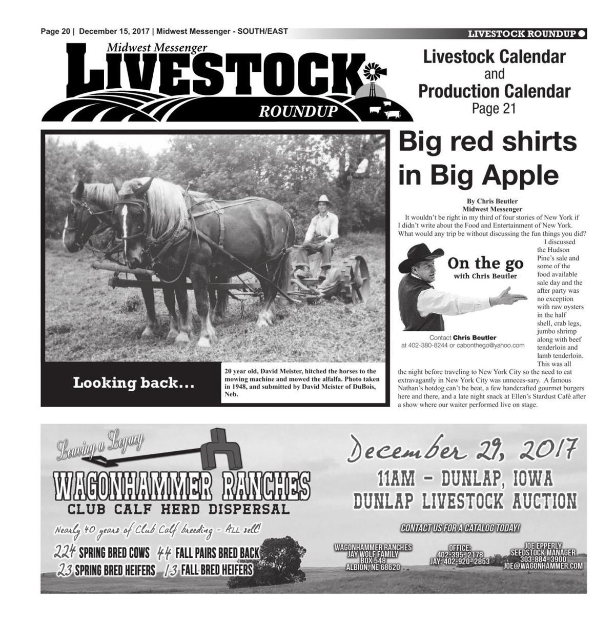 Livestock Roundup 12/15/17 | Midwest Messenger | agupdate com