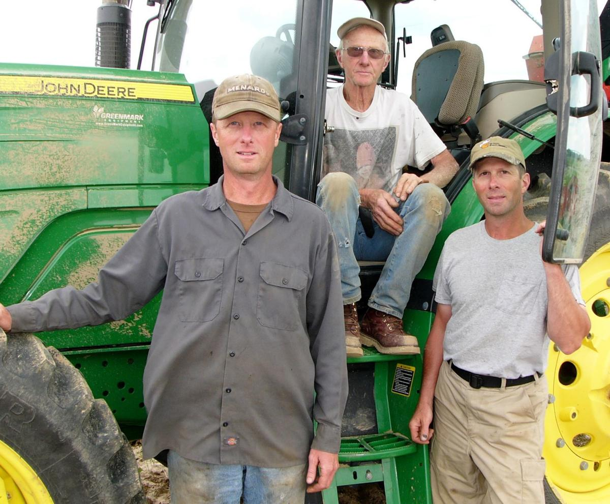 Father and sons raise organic potatoes