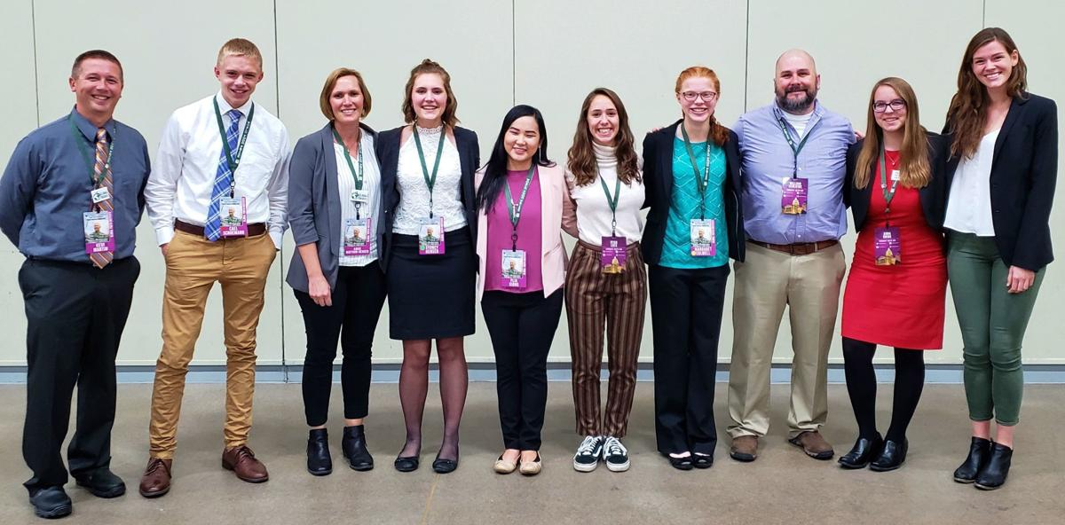 Wisconsin delegates to the 2019 Global Youth Institute with teachers and chaperones