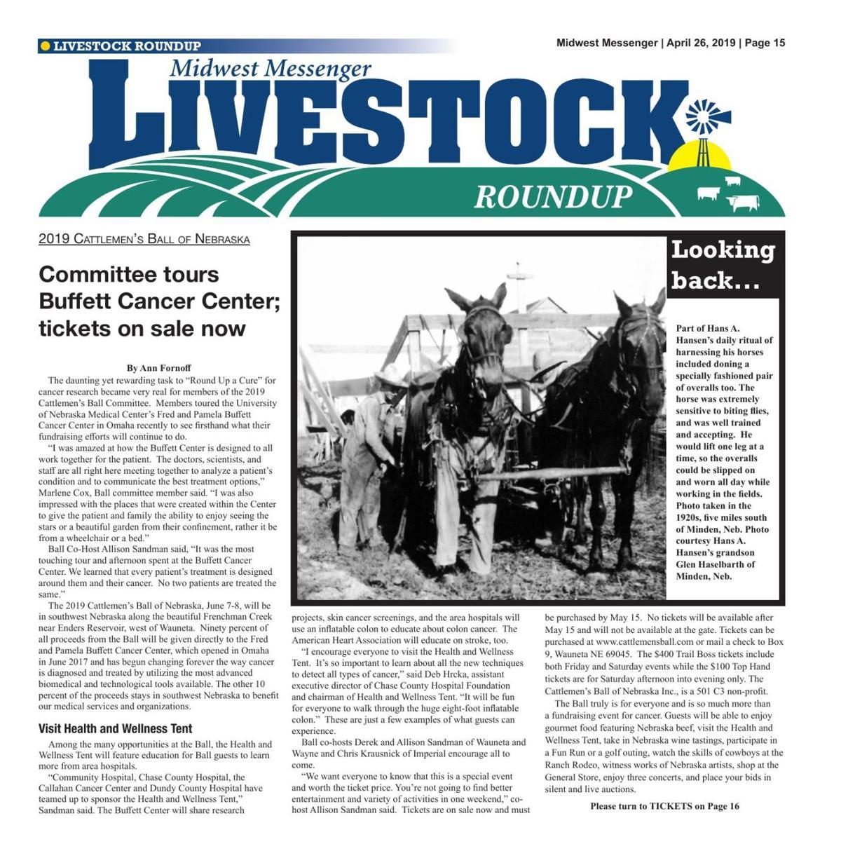 Livestock Roundup 4/26/19 | Midwest Messenger | agupdate com