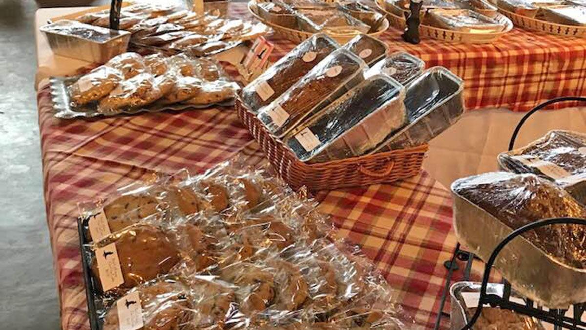 Farmers market baked goods