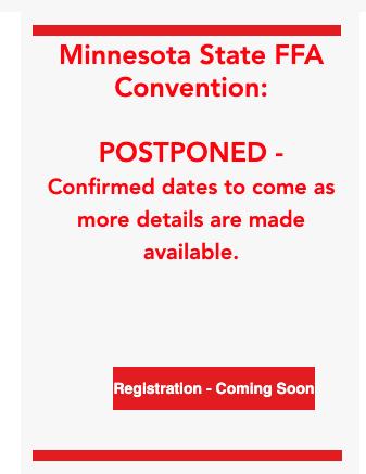MN State FFA Convention postponed