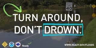 Turn around, don't drown.