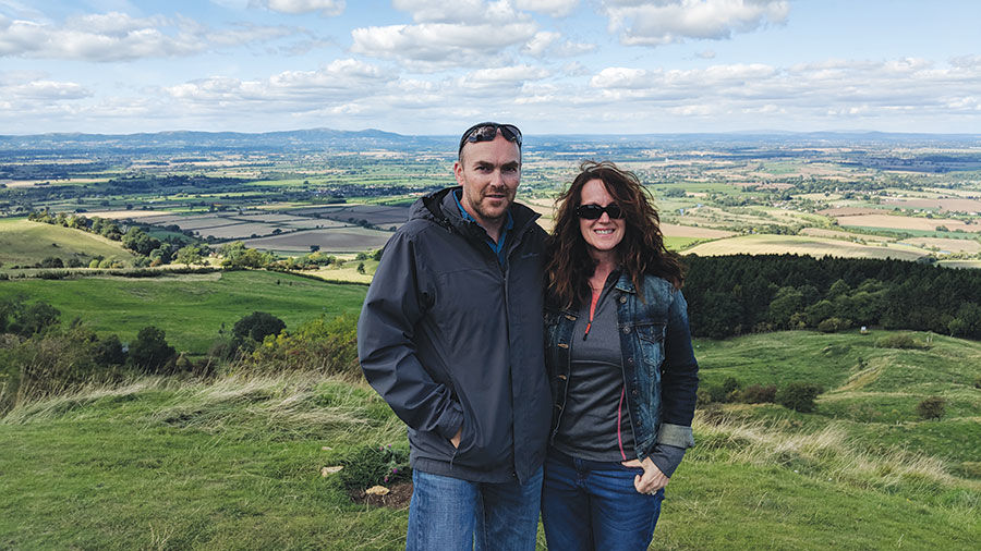 Brian and Kecia Dougherty visit Overbury Estate