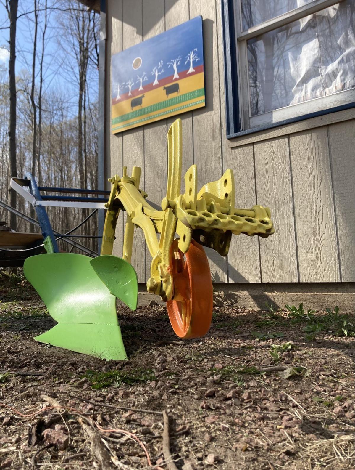 Old moldboard plow
