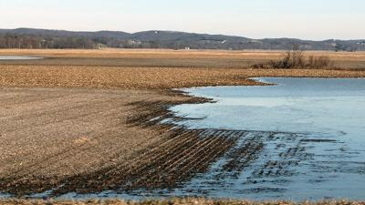 Wet field conditions Spring