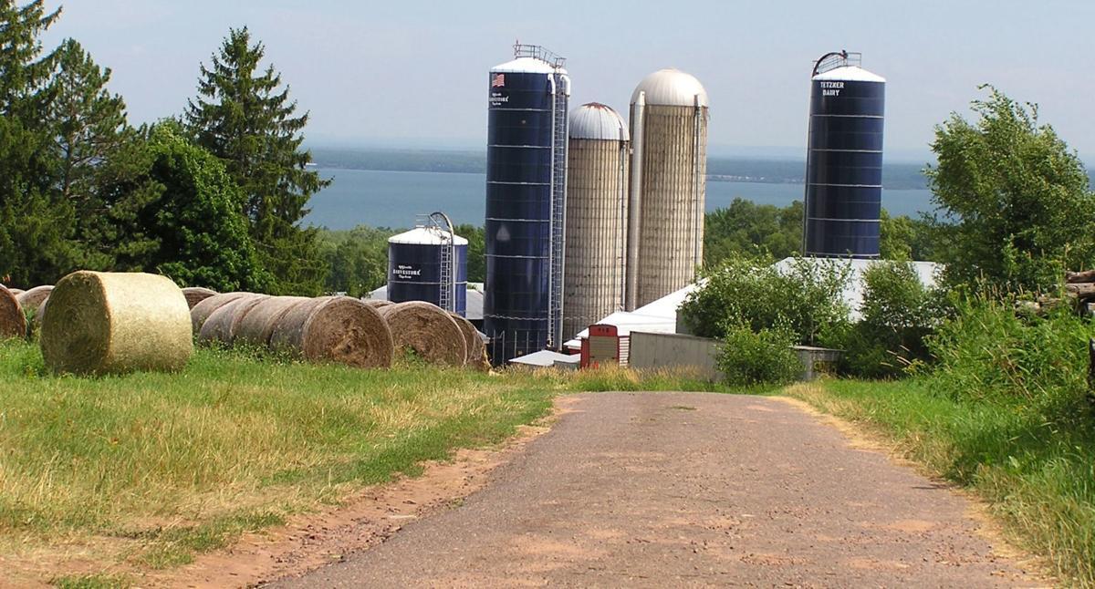 Tetzner's Dairy overlooks Chequamegon Bay