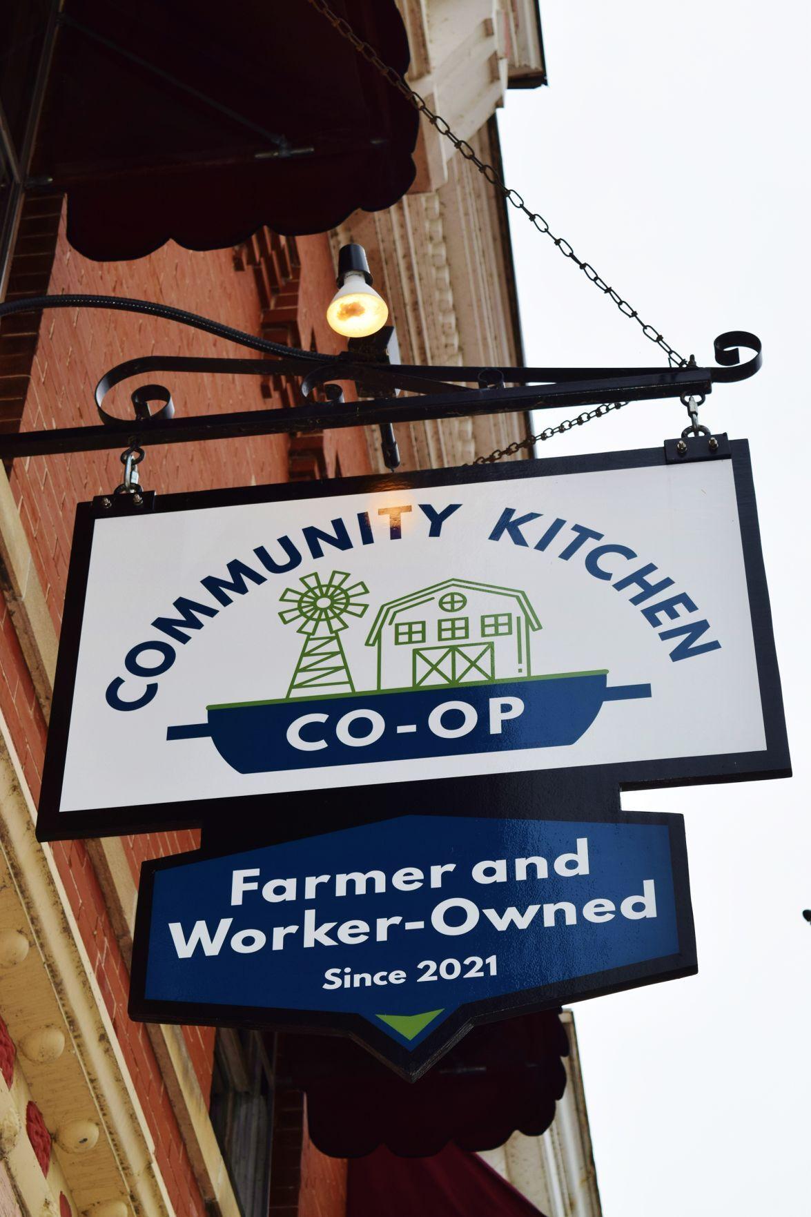 Community Kitchen Co-op sign