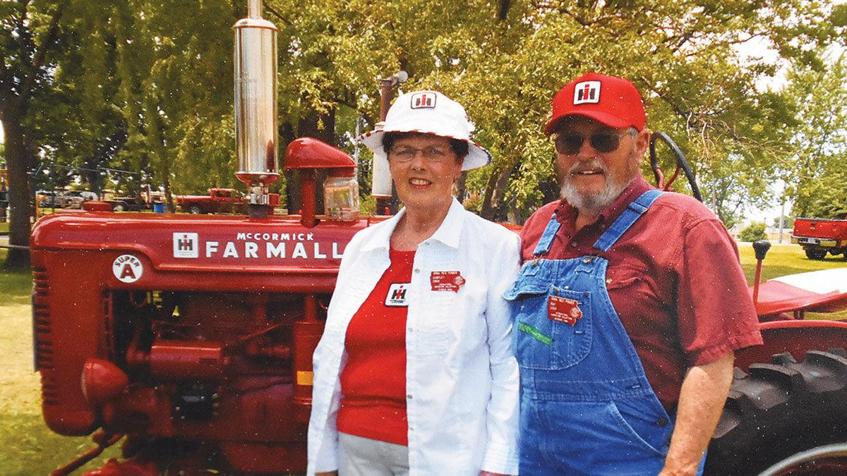 Ray Cook and his wife Shirley started their Farmall tractor collection
