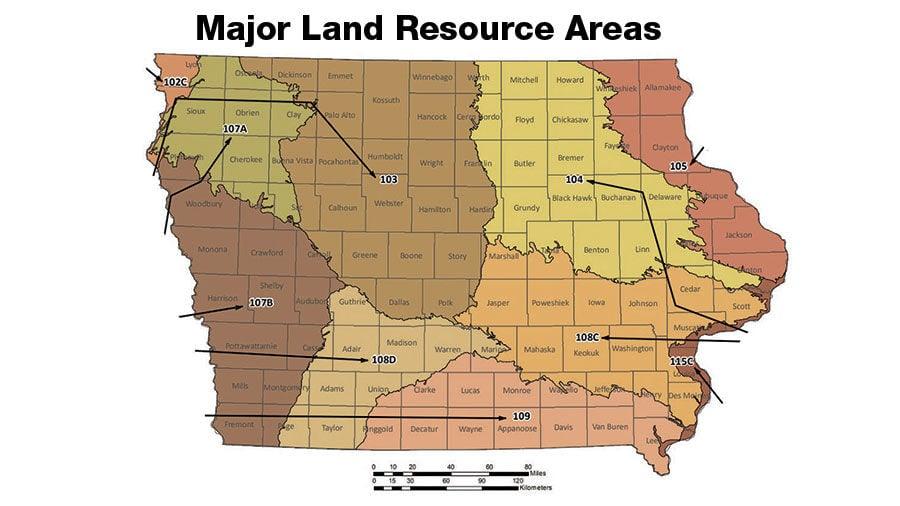Iowa soil type map