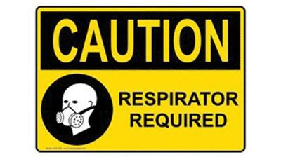 Respirator required label