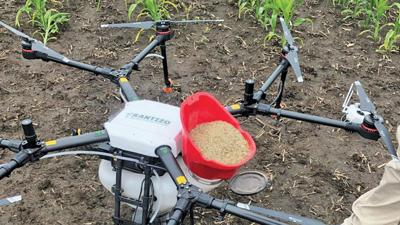 Rantizo drone filled with cover crop seed