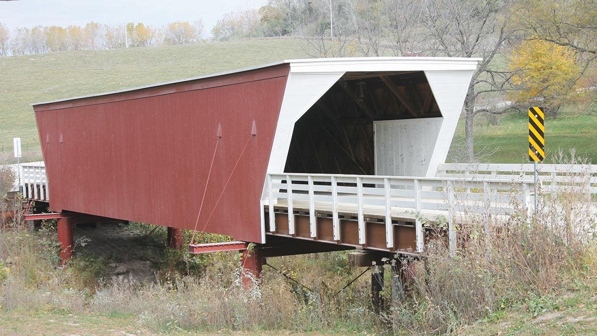 A covered bridge in central Iowa.