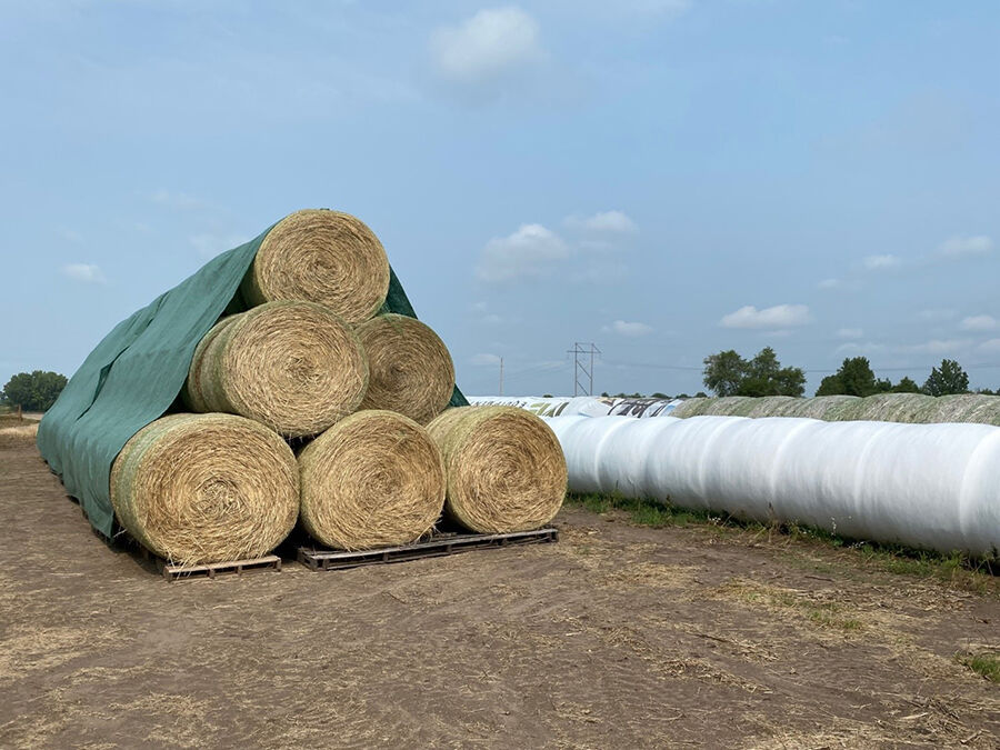 Wrapped round bales