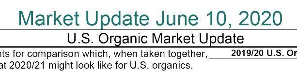 Mercaris Organic Market update June 20, 2020