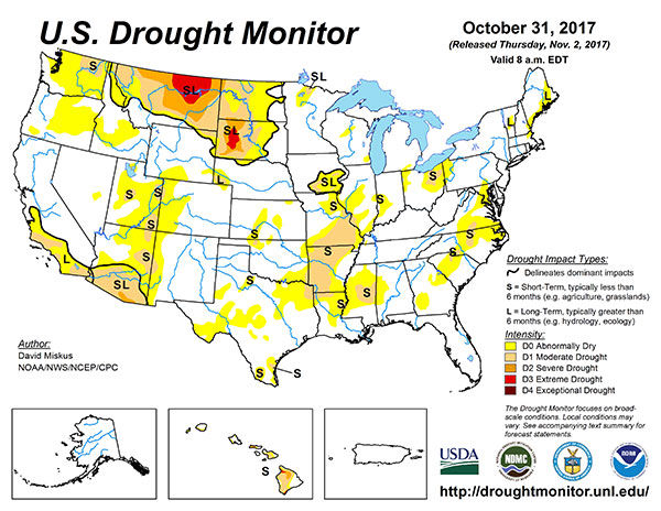 US Drought Monitor Map State Regional Agupdatecom - Us drought map forecast