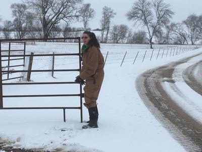 Newest Producer Progress Reporter welcomes visitors to her Nebraska farm