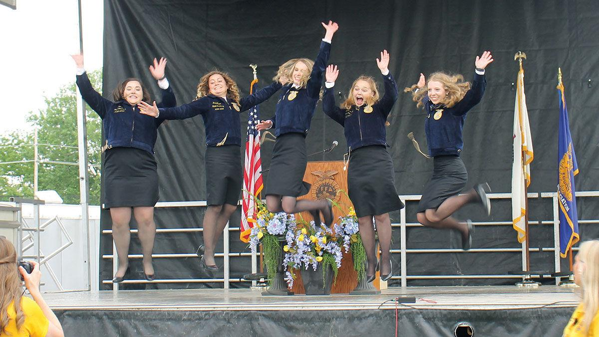 Illinois FFA state officers