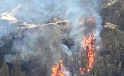 Medora area fire