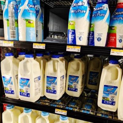 Dean Foods milk in dairy case