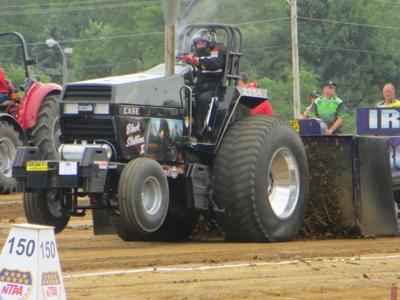 Host farmer at Tomah tractor pull